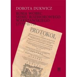 Dorota Dukwicz, Rosja wobec sejmu rozbiorowego warszawskiego (1772-1775)