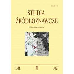 Studia Żródłoznawcze. Commentationes, t. LVIII (2020), red. A. Rachuba, P. Węcowski