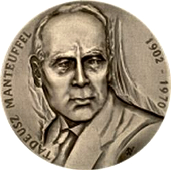 Medal z podobizną T. Manteuffla
